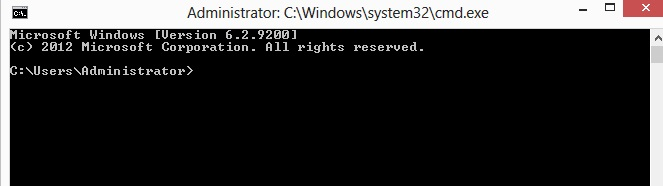 Windows command prompt.
