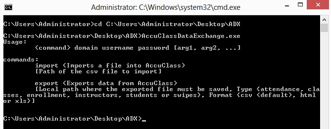 Windows command prompt cd (change directory).